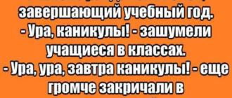 смешной анекдот про школу АН